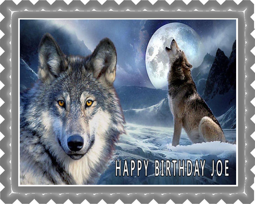Wolf 2 Edible Birthday Cake Topper