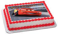 Disney Pixar Cars Lightning McQueen 2 Edible Birthday Cake Topper OR Cupcake Topper, Decor