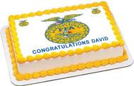 FFA  2 Edible Birthday Cake Topper OR Cupcake Topper, Decor