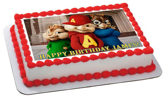 Alvin And The Chipmunks Birthday Cake: ALVIN AND THE CHIPMUNKS ROAD CHIP 1 Edible Birthday Cake