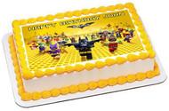 The lego batman movie Edible Birthday Cake Topper OR Cupcake Topper, Decor