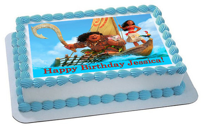 Moana 2 Edible Birthday Cake Topper