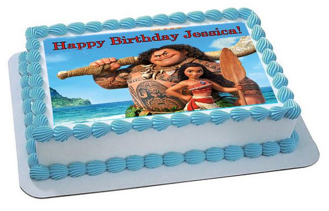 Moana 3 Edible Birthday Cake Topper