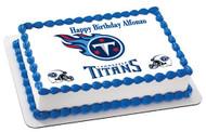 Tennessee Titan Edible Birthday Cake Topper OR Cupcake Topper, Decor