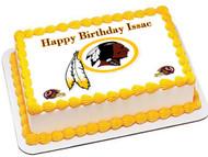 Washington Redskins Edible Birthday Cake Topper OR Cupcake Topper, Decor