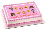 The Emoji Movie B Edible Birthday Cake Topper OR Cupcake Topper, Decor