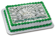 100 dollar bills Edible Birthday Cake Topper OR Cupcake Topper, Decor