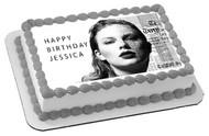 Taylor Swift 2 Edible  Edible Birthday Cake Topper OR Cupcake Topper, Decor