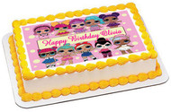 Lol Suprise Dolls (2) - Edible Birthday Cake Topper OR Cupcake Topper, Decor