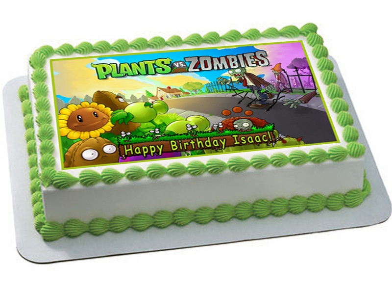 PLANTS vs ZOMBIES 2 Edible Birthday Cake Topper