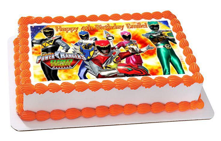 Power Rangers Dino Charge 1 Edible Birthday Cake Topper