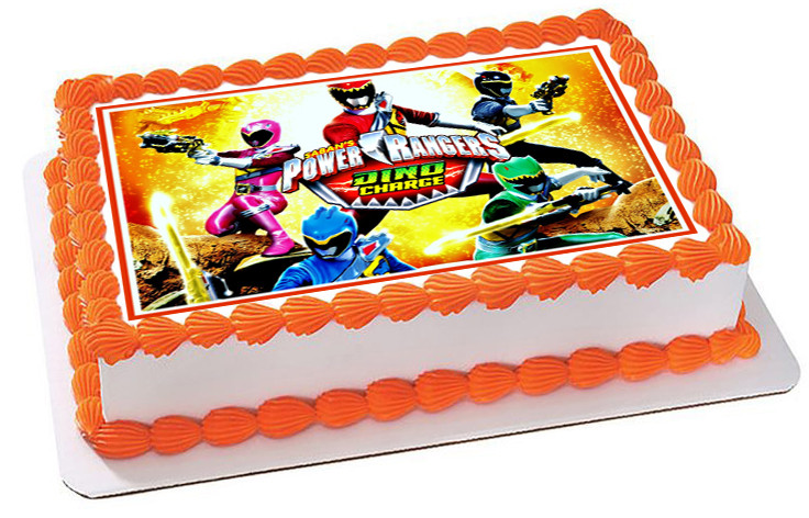 Power Rangers Dino Charge 2 Edible Birthday Cake Topper
