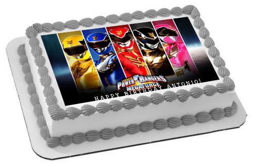Power Rangers Megaforce Edible Birthday Cake Topper