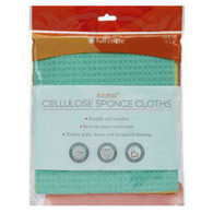 Squeeze Multicolored Cellulose Sponge Cloths Set of 3