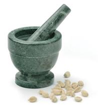 RSVP Green Marble Mortar Pestle