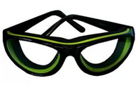 RSVP Tear Free Onion Goggles with Black and Green Frames