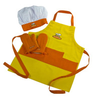Curious Chef 4pc. Child Chef Textile Set