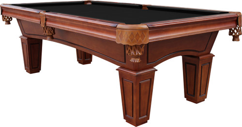 St Lawrence 8u0027 Slate Pool Table W/ Leather Drop Pockets