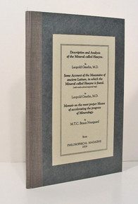 Rare Mineralogy Papers: Gmelin, Leopold; Description and Analysis of the Mineral Called Hauyne. & Some Account of the Mountains of Ancient Latium, in which the Mineral called Hauyne is Found. 1814