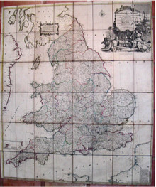 Rare Map by Thomas Kitchin; An Accurate Map of England and Wales, 1750