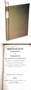 Book by Hericart de Thury, Mineralogie Synoptique ou Tableaux des Substances Minerales Specifiees, Caracterisees et Decrites Au Moyen De Signes Conventionels. 1805