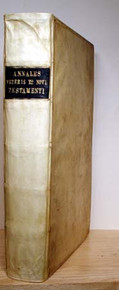 Rare Science Book by Ussher, Archbishop James; Annales veteris et novi Testamenti, a prima mundi Origine deducti. Una cum rerum asiaticarum et Aegyptiacarum chronico, a temporis historici principio us