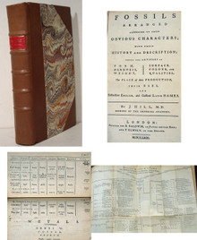 Rare Mineralogy Book, John Hill; Fossils Arranged According to their Obvious Characters