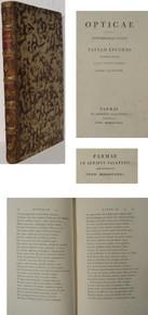 Rare science book: Paul Lucini; Opticae iuxta Newtonianas leges a Paullo Lucinio