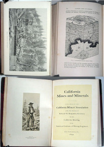Rare Mining Book: California Miner's Association: California Mines and Minerals, San Francisco, 1899