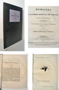 Rare mineralogy book, Parrot, Geor Friedrich; Notice sur les Diamans de L'Oural.