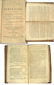 Rare Mathematics-surveying book, Moore, Samuel. An Accurate System of Surveying. Litchfield, 1796.