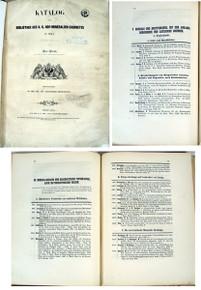 Rare Mineralogy Museum Catalog, Partsch, P.; Katalog der Bibliothek des K. K. Hof-Mineralien-Cabinetes in Wien. Wien, 1851