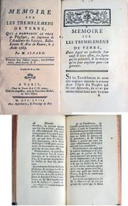 Seismology book: Isnard, M.; Memoire sur les tremblemens de terre