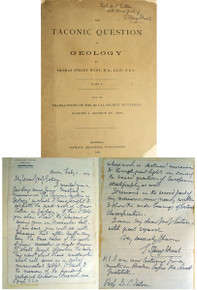 Rare Geology Book: Thomas Sterry Hunt; The Taconic Question in Geology, Parts 1 & 2. Transactions of the Royal Society of Canada, Vol. 1, Montreal,1883.