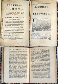 Rare Astronomy Book: Winthrop, John; Two lectures on Comets, Read in the Chapel of Harvard-College in Cambridge, New-England, in April 1759.