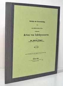 Rare vertebrate paleontology book: Wagner, Johann Andreas; Beitrage zur Kenntniss der im Suddeutschen Lias Vorkommenden Arten von Ichthyosaurus 1851