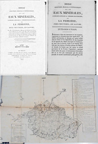 Rare geology book: Socquet, Giuseppe Maria. Essai Analitique, Médical et Topographique La Perriere springs...1824