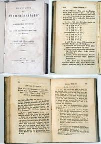 Rare Science Book: Bernoulli, Christoph; Grundzuge der Elementarophysik oder Methodischer...1807