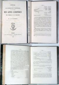 Rare Mining book: Tegoborski, Ludwik; Essai sur les conséquences .... des gîtes aurifères en Californie et en Australie. 1853