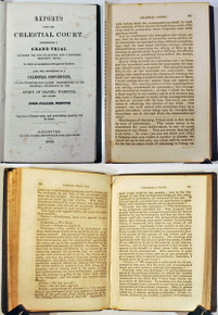 Rare Americana Book: Fuller, John; Reports from the Celestial Court, Representing a Grand Trial Between the God of Nature and a Supposed Deceitful Being..1853.