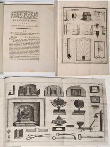 Rare Science Books: Franklin, Benjamin; Two Papers from American Philosophical Society on the Franklin Stove and the Chimney. APS, vol. 2, 1786.