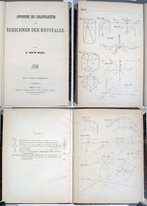 Rare Mineralogy Book: Websky, Christian Friedrich Martin; Anwendung der Linearprojection zum Berechnen der Krystalle. 1887.