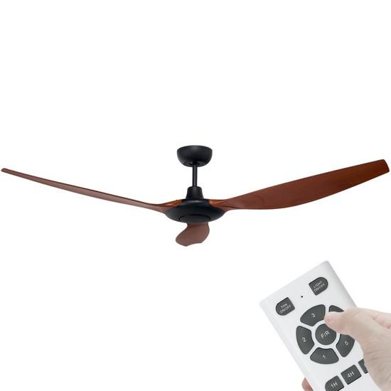 brilliant concorde dc motor 152cm black/mahogany & remote ceiling Brilliant Ceiling Fan