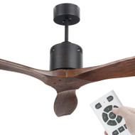 Brilliant Galaxy II DC Motor 137cm Rubbed Bronze Timber & Remote