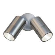 Pro-Tech Seaford LED Exterior Twin Spotlight 316 Stainless Steel