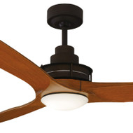 Mercator Flinders 140cm Oil Rubbed Bronze Ceiling Fan & LED Light