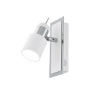 Eglo Davida 1lt GU10 LED Spotlight White & Chrome