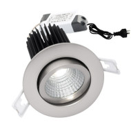 Mercator Gizmo 12w 3000K LED Gimble Down Light Brushed Chrome