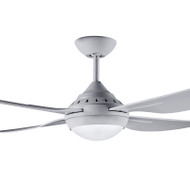Deka Russell 120cm Silver Plastic Indoor/Outdoor Ceiling Fan & LED Light