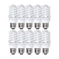 DISCOUNT PACK OF 10 CLA 15w E27 Mini Spiral CFL 2700K Warm White